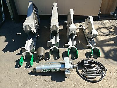 "Greenlee 881CT Pipe Bender E960 Hydraulic Pump, 1813 Table 2.5 -4"" Rigid IMC EMT"