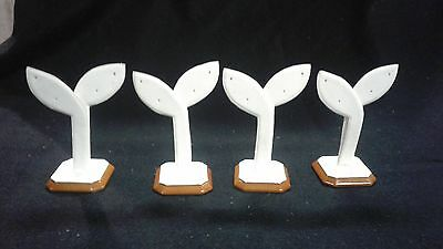 New 4 White Countertop Style Earring Display 4 Inches Tall