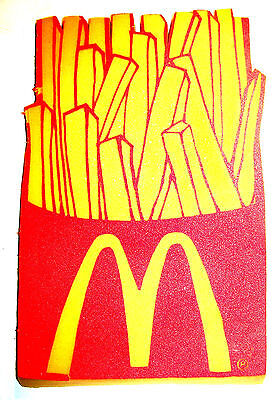 Vintage McDonalds French Fry Foam Fan Finger Ronald Meal Toy Happy Gift Card Ofr