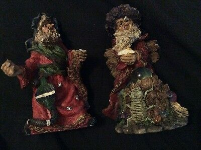 Wizard statues