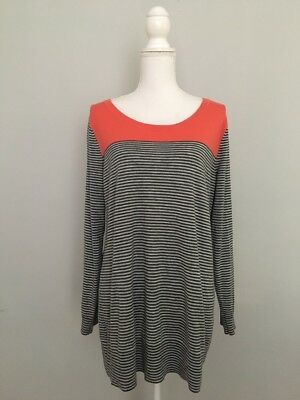 Gap Maternity Sweater XL Striped Pullover Thin Knit Wool Blend Career Casual