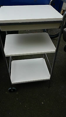 Vintage ? Chiropodist / Beauty / Therapy/medical/industrial Trolley With Drawer