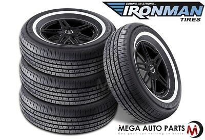 4 X New Ironman RB-12 NWS 225/75R15 102S White Wall All Season Performance Tires