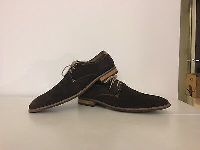 Steve Madden Men's P-Elvin Lace Up Casual Oxford Shoe - Brown Suede size 10.5
