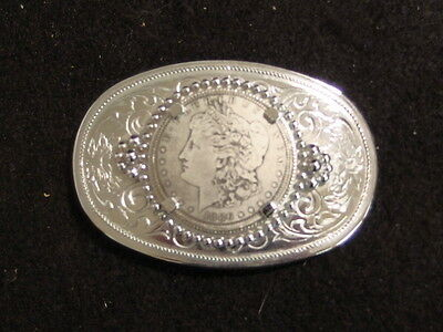 Silver Dollar or 38.1 MM Gemstone Style Western Belt Buckle