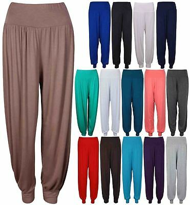 Ladies Womens Ali Baba Harem Trousers Full Length Cuffed Baggy Pants Casual