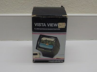Hanimex 480202 Portable Vista Viewer for 2 x 2 slides - Tested Working Condition
