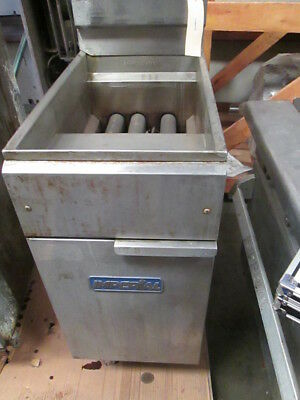 Imperial Single Vat Commercial Gas Burner Deep Fryer 2 Basket Frialator