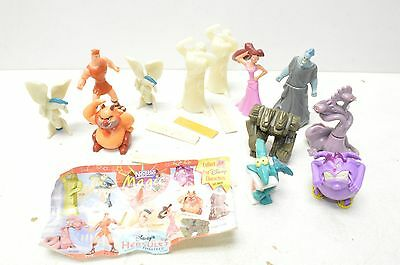 HERCULES Disney US NESTLE MAGIC Figurine w/Paper Lot of 12 Figures 1997 Zeus