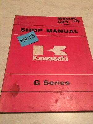 Kawasaki 100 G5 G7S G7T revue moto technique manuel atelier shop manual ed. 78