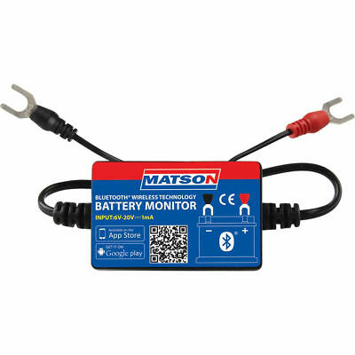 Matson Battery Monitor Bluetooth Wireless Charging Cranking Dual Battery