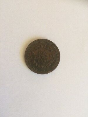 1862 TOKEN T.STOKES ,MILITARY BUTTON TOKEN MAKER / 2  BREAD TOKENS (the lot)