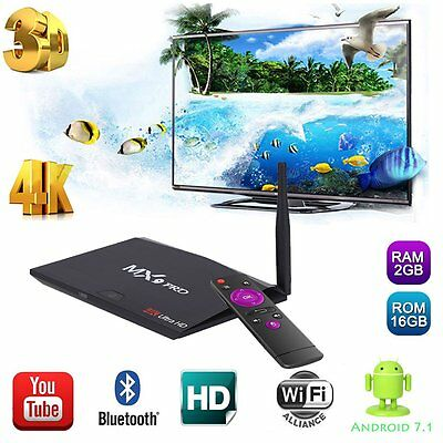 MX9 PRO 2G+16G RK3328 BT4.0 WIFI  HD2.0  TV BOX Android 7.1 Media Player NEW