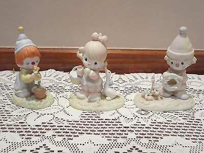 Precious Moments Figures- Lot of Three Clown Themed Figurines *GREAT CONDITION*