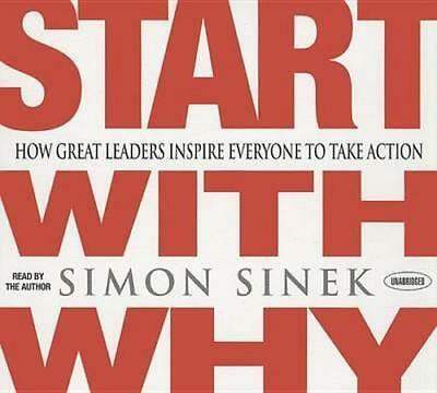 NEW Start with Why By Simon Sinek Audio CD Free Shipping