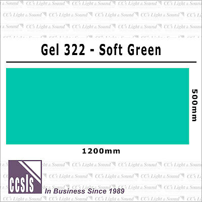 Clear Color 322 Filter Sheet - Soft Green