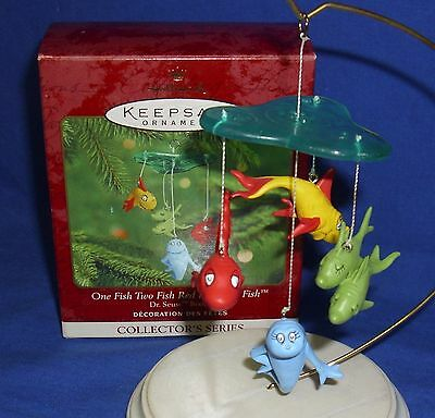 Hallmark Ornament Dr. Seuss Books #2 2000 One Fish Two Fish Red Fish Used