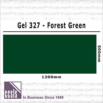 Clear Color 327 Filter Sheet - Forest Green
