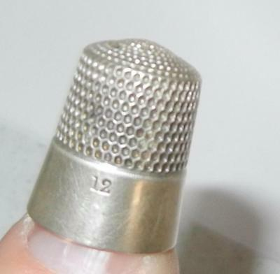 Antique Simons Bros. Sterling Silver Sewing Thimble Size 8