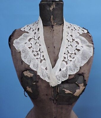1930'S Floral Lace Collar For Dress