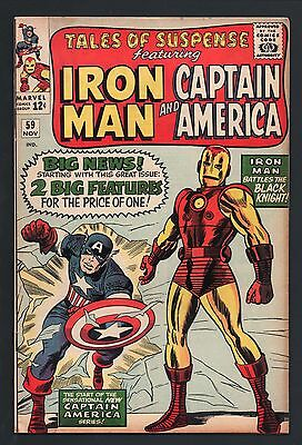 TALES OF SUSPENSE #59 Marvel IRON MAN Classic CAPTAIN AMERICA New Collection
