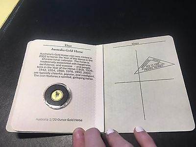 Australia 1/20 Ounce Gold Horse World of Gold Coins Passport