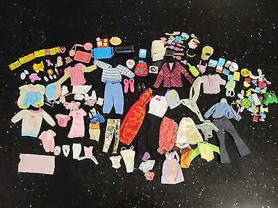 Vintage Barbie Doll Clothes and Accessories 150 pieces total -approx 50 clothes