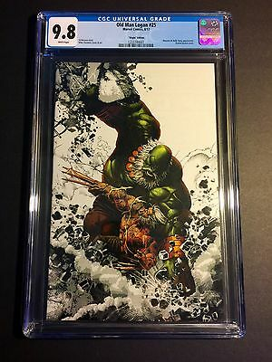 Old Man Logan 25 Mike Deodato Virgin Color Splash Variant Cgc 9.8 Nm/mt