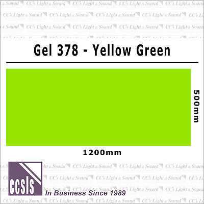 Clear Color 378 Filter Sheet - Yellow Green
