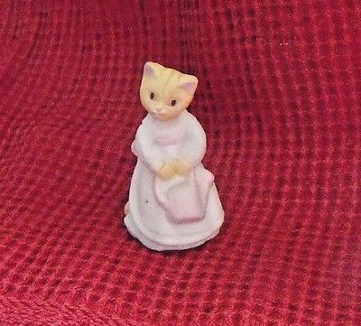 1988 vintage HALLMARK Merry Miniatures Cosmopolitan CAT figurine + Watering Can