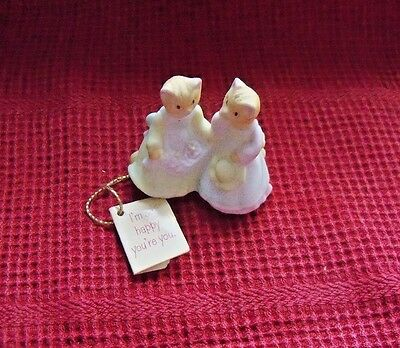 1987 vintage HALLMARK Merry Miniatures Cosmopolitan CAT figurine FRIENDS + Tag