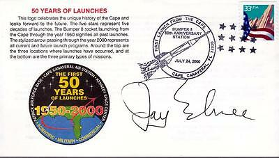 Jay Barbree NBC pioneer space reporter author signed cover