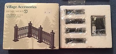 Department 56 Village Accessories City Fence 7 Pieces NEW Christmas Dickens
