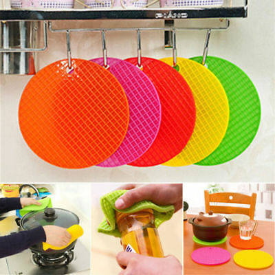 Silicone Honeycomb Non-slip Heat Resistant Mat Kitchen Coaster Cushion Placemat
