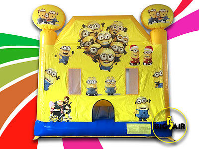 Brand New Commercial Quality Minion Jumping Castle - 4m x 4m x 4m