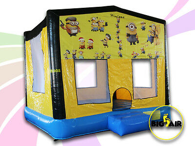 Brand New Commercial Quality Minion Square Jumping Castle - 4m x 4m x 4m