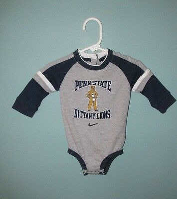 Penn State~Baby/infant Nike  One-Piece Shirt W/snaps~Size: 3-6 Months~Euc!