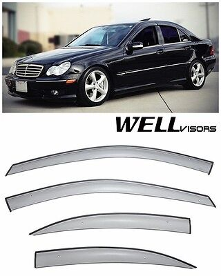 For 01-07 MB C-Class Sedan WellVisors Side Window Visors Premium Series