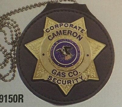 Recessed Badge Holder 7 Point Star Cdc Sheriff Marshall Police Chp Security