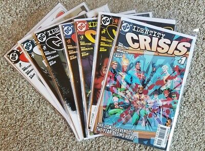 Identity Crisis #1, 2, 3, 4, 5, 6, 7 - DC Comics Lot!