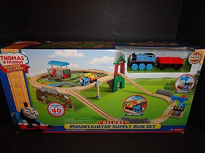 Thomas And Friends Wooden Railway Deluxe Mountaintop Supply Run Set  New