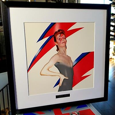 David Bowie-Aladdin Sane-Framed Original Album Artwork -Ziggy Stardust