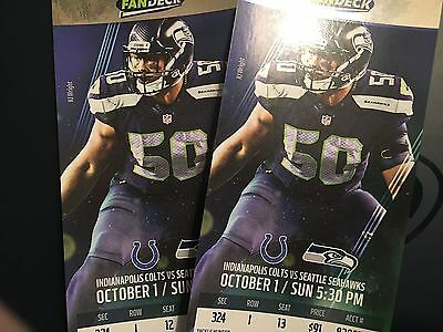 Seattle Seahawks Indianapolis Colts 10/1/2017