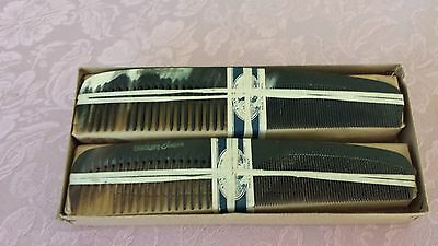 Original Box of 12 Antique Genuine Horn Combs - Handmade in France
