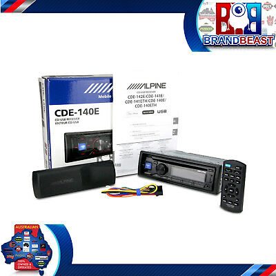 New Alpine Cde-140e Aux In Cd Mp3 Usb Wma Dual Pre Out (2) Car Audio Head Deck