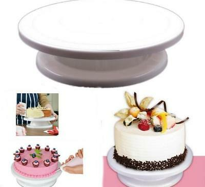 28Cm Rotating Cake Icing Deocrating Revolving Kitchen Display Stand Turntable 6A