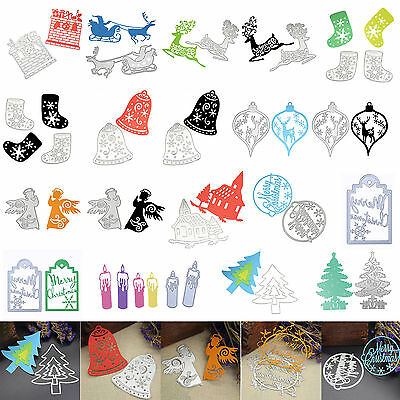 Merry Christmas Metal Cutting Die Stencil Scrapbooking Embossing DIY Decor Craft