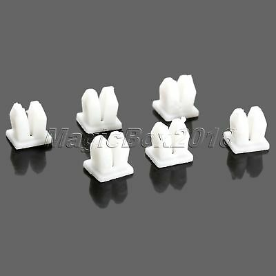 50Pcs White Nylon Rivet Retainer Fastener Clip for Car Fender Bumper Trim Panel