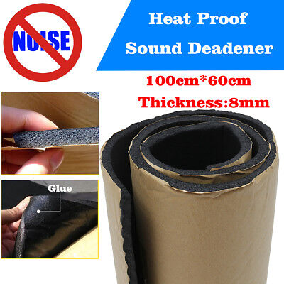 8mm Car Van Insulation Noise Sound Deadening Hood Heat Proofing 60x100cm Foam