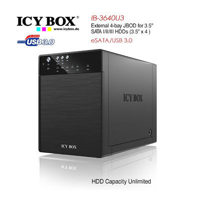 ICY BOX IB-3640SU3 External 4-bay JBOD system for 3.5 Inch S-302417497063